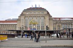 Lipsia Hauptbahnhof Fotografia Stock