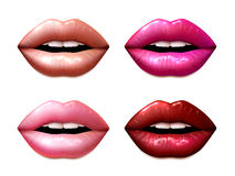 Lipstic Samples Set Royalty Free Stock Photography