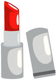 Lipstick. Illustration of isolated red lipstick on white background Stock Images