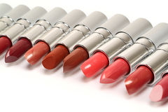 Lipstick. On a white background for a make-up Royalty Free Stock Images