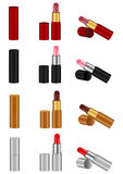 Lipstick. The  image of lipstick of various kinds Stock Illustration