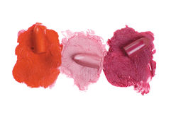 Lipstick. On a white background for a make-up Stock Photos