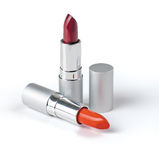 Lipstick. On a white background for a make-up Stock Photography