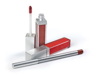 Lipstick. On a white background for a make-up Stock Images
