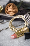 Lipstick and accessories Stock Image