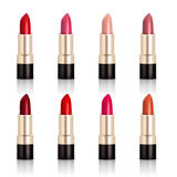 Lipstick Assortment Set. With glossy colors realistic  vector illustration Royalty Free Stock Photos