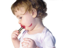 Lipstick Baby stock photo