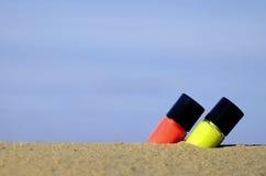 Lipstick on the beach Stock Image