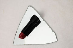 Lipstick in Black Container Royalty Free Stock Photos