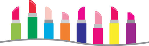 Lipstick Border Stock Photo