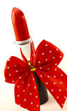 Lipstick and bow Stock Image