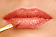 Lipstick brush Royalty Free Stock Photos