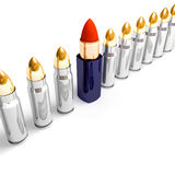 Lipstick and bullets. A background of lipstick and bullets Royalty Free Stock Photos