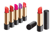 Lipstick circle Royalty Free Stock Images