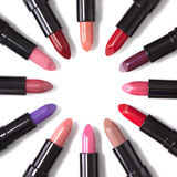 Lipstick Circle. Lip Sticks on a white background Stock Photos