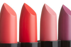 Lipstick collection on white Stock Photography