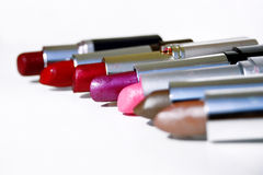 Lipstick color 2. Colorful tubes of lipstick Stock Photos