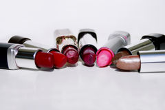 Lipstick color 3. Rainbow of colors in a tube of lipstick Royalty Free Stock Photography