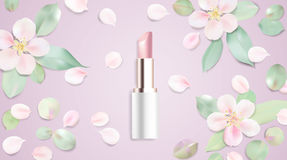Lipstick cosmetics vector illustration background Royalty Free Stock Images