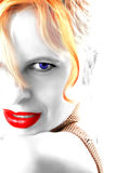 Lipstick and eyes stock illustration