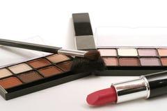 Lipstick & eyeshadow. Shot of lipstick and eyeshadow Royalty Free Stock Photos