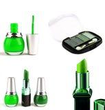 Lipstick with eyeshadow isolated Stock Image