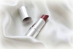 Lipstick on fabric Stock Photos