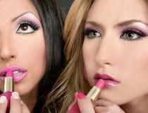 Lipstick fashion girls barbie doll stock photography