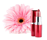 Lipstick with flower Stock Photography