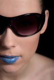 Lipstick girl Stock Photos