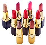 Lipstick group. Decorative cosmetics. Stock Photos