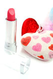 Lipstick and heart Royalty Free Stock Image