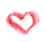 Lipstick heart Stock Images