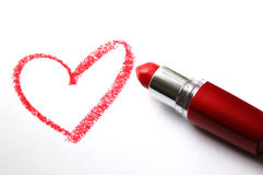 Lipstick heart Royalty Free Stock Photos