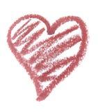 Lipstick heart stock photo