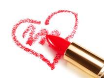 Lipstick Heart Royalty Free Stock Photography