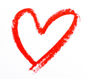 Lipstick heart shape Stock Photo