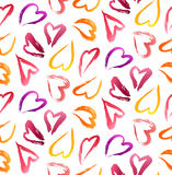 Lipstick Hearts Background Royalty Free Stock Photo