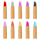 Lipstick. Icon set , cosmetics. Flat design, vector illustration, vector royalty free illustration