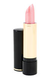 Lipstick isolate. Bright feminine pomade on white background stock images