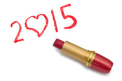 Lipstick and 2015 Stock Photo