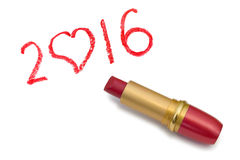 Lipstick and 2016 Royalty Free Stock Image