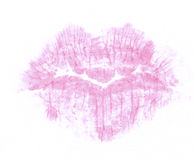 Lipstick kiss Royalty Free Stock Images
