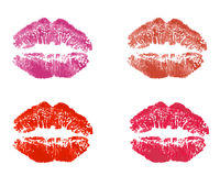Lipstick kiss Royalty Free Stock Photo