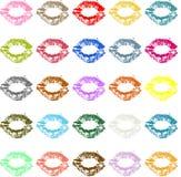 Lipstick kiss mark colored Stock Image