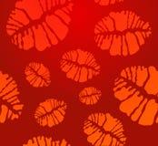 Lipstick Kiss shape print seamless pattern Stock Photography