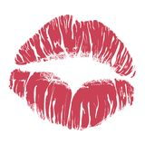 Lipstick kiss Royalty Free Stock Photos