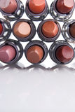 Lipstick for lips. Women's cosmetics lipstick basis for female beauty stock photography