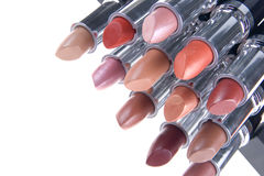 Lipstick for lips. Women's cosmetics lipstick basis for female beauty royalty free stock image