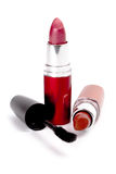 Lipstick and mascara Royalty Free Stock Photography